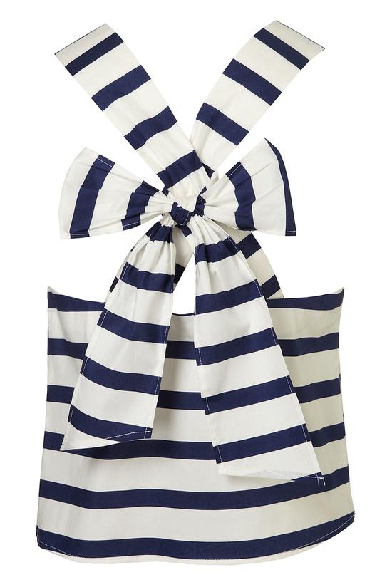 Stripe Bow / Top Shop