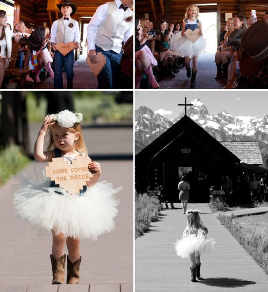 tutu and cowboy boots for flower girl