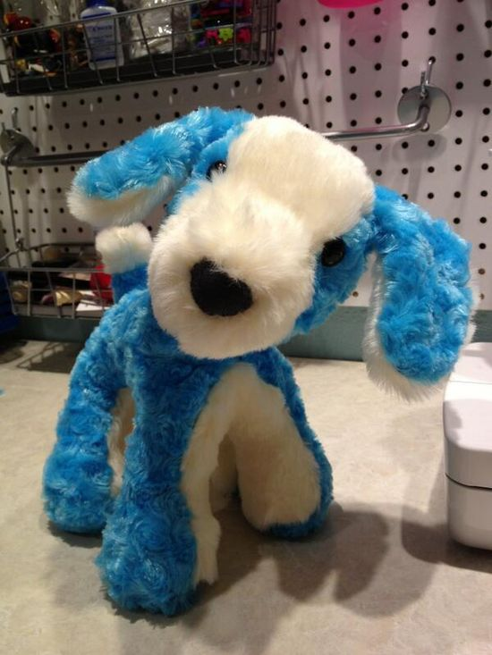 A lovely furry blue puppy from Stuffed Animals made by JeniRo Designs. Love this guy!