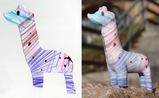 CrayonCreatures - send in your child's crayon drawing and a beautiful sculpture of the drawing will be sent back to  you