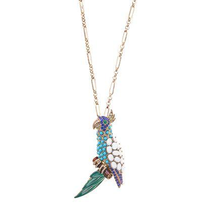 Parrot pendant necklace - necklaces - Women's jewelry - J.Crew