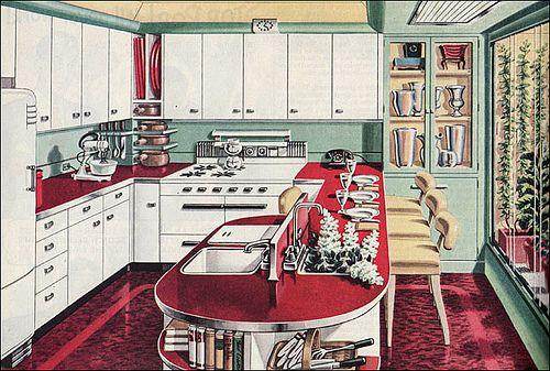 1946 American Gas Assn - Garden Kitchen by American Vintage Home, via Flickr