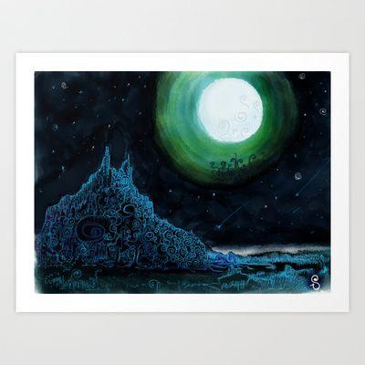 Moon Art Print by Sn