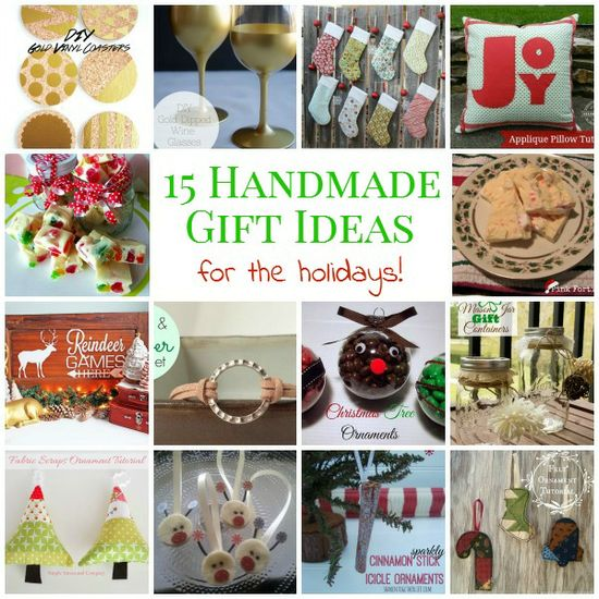 15 Handmade Gift Ideas For The Holidays!