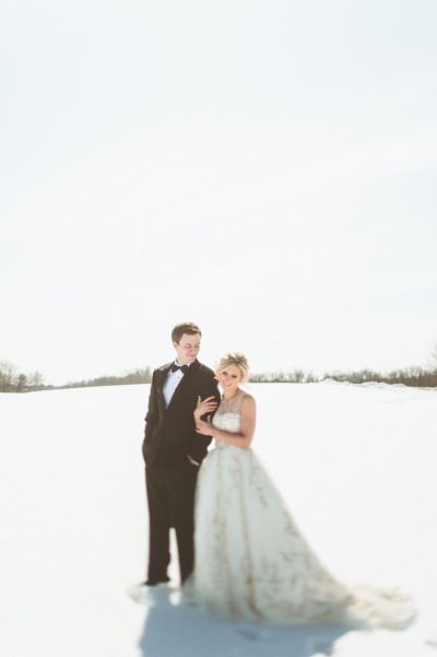 #Winter #weddings might just be the most romantic of all. Don't you think? Photography by paperantler.com  Read more - www.stylemepretty...