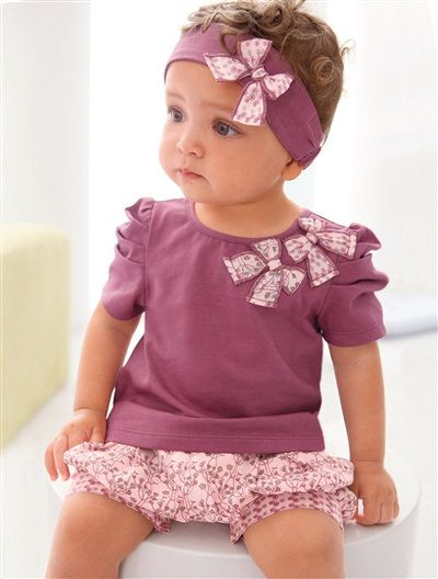 cute baby outfit from vertbaudet