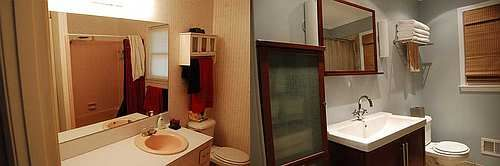 Bathroom Decorating Before and After