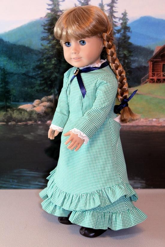 Green Gingham Dress $45