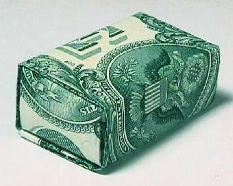 How to fold a money gift box.