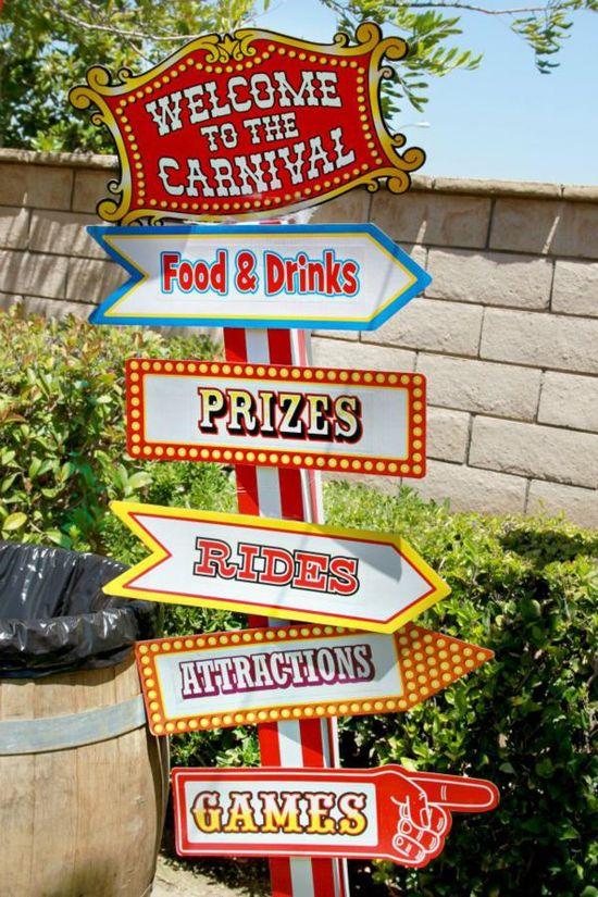 Circus signs
