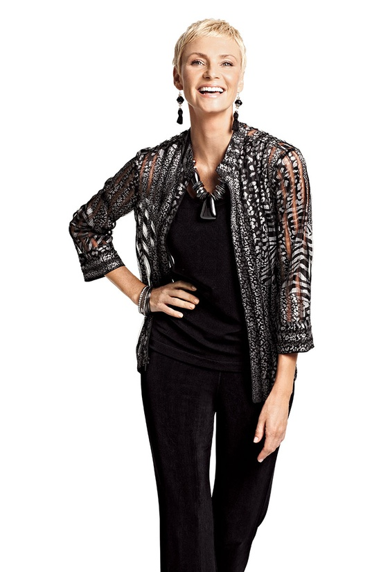 Travelers Collection Animal Mixed Laurel Jacket #chicos