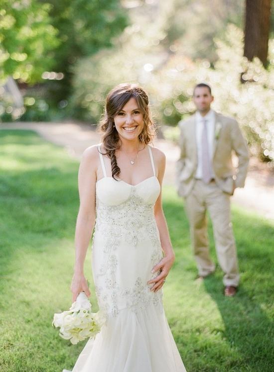 Gorgeous wedding gown by Jenny Packham ~ Photography by michaelandannacos... via StyleMePretty.com...
