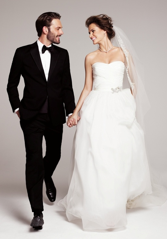 Roses by Reem Acra 'Holly' gown and 'Rich' veil, exclusive to Nordstrom #nordstromwedding