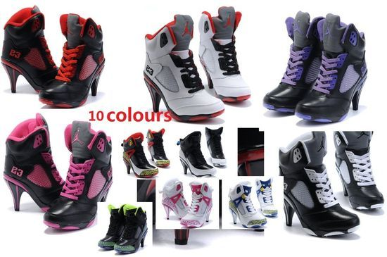 girl's high heel boots hip hop girl fashion shoes leather boots-in Shoes on