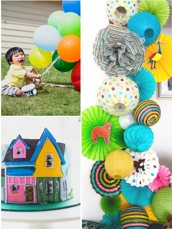 """""""UP"""" Inspired Balloon Birthday Party by Bird's Party Blog"""