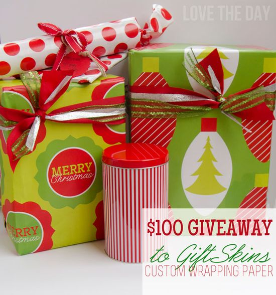 Custom Gift Wrap $100 Giveaway from GiftSkin