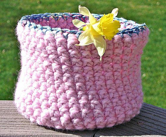 Crochet Basket, Crochet Bowl  by HandmadeByAnnabelle