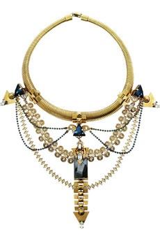 ERICKSON BEAMON Alchemy gold-plated Swarovski crystal necklace