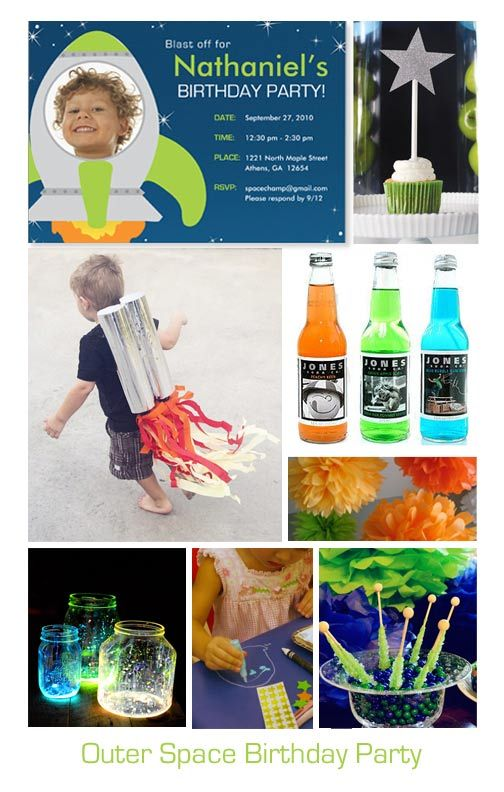 Outer Space or Rocket Birthday Party Inspiration