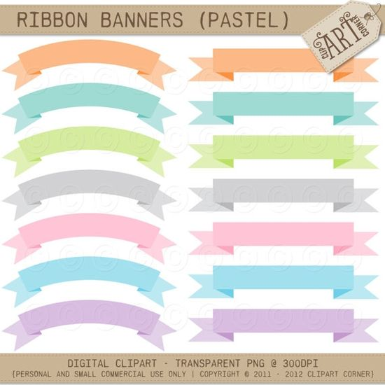 Ribbon Banners Pastel - Luvly Marketplace