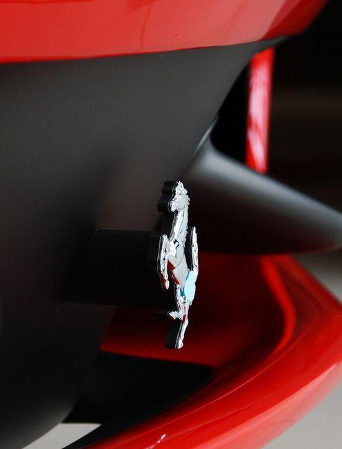 Gorgeous macro of a Ferrari.