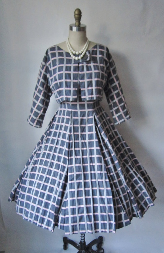 50's Strapless Dress with Jacket