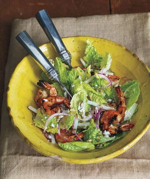 Mexican Grilled Shrimp Caesar Salad recipe