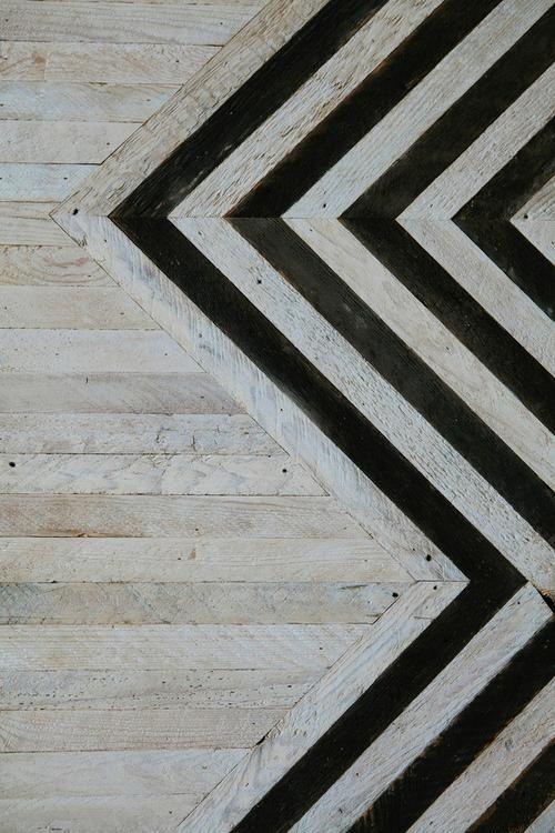 patterned wood floor.