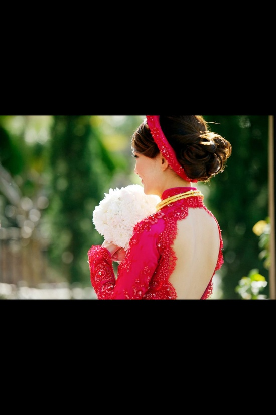 Ao Dai in red