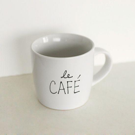 A minimalist, chic mug for her morning coffee.