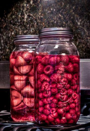 fruit infused vodka...