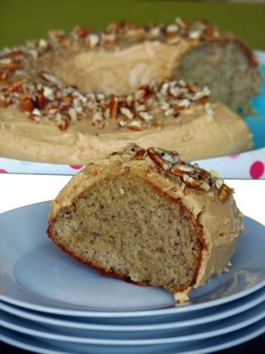 Banana Cake with Peanutbutter Icing