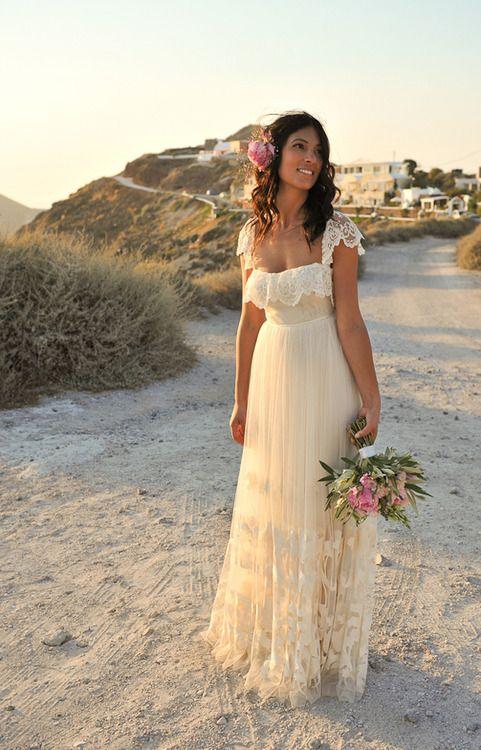 #beach wedding #wedding dress #gown #cute #seaside