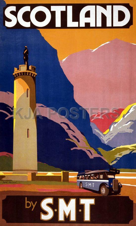 Scotland #vintage #travel #poster #UK