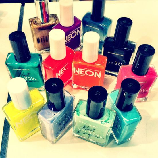new nail polishes from american apparel