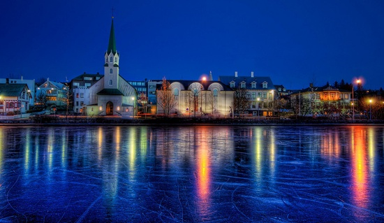 Lovely photo of the the pond in Reykjavík