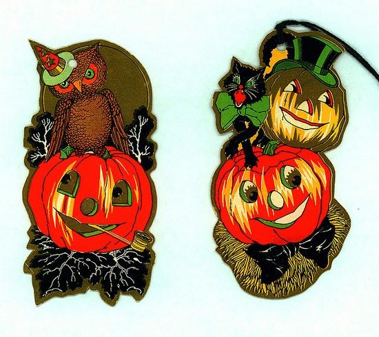 Vintage Halloween Bridge Tally Cards