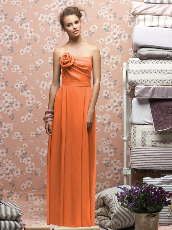 Lela Rose #orange #bridesmaid #dress