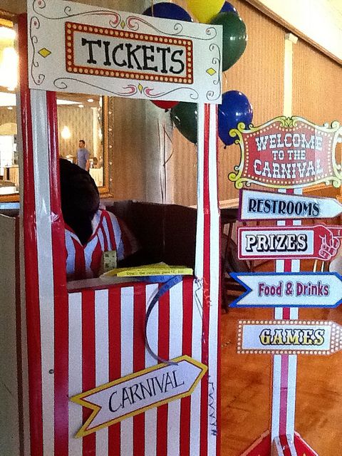 #Carnival #Party too cute Create your own ticket booth