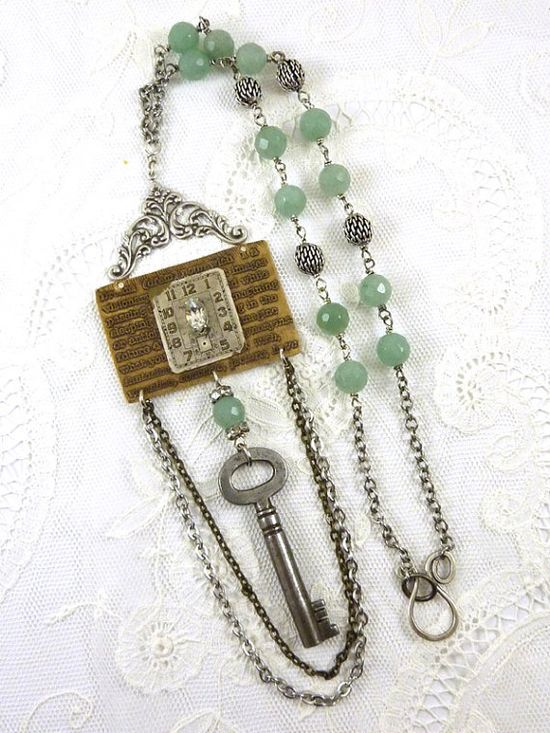 Repurposed Watch Necklace Vintage