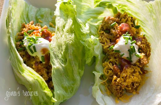 Turkey Taco Lettuce Wraps 134 calories for 2