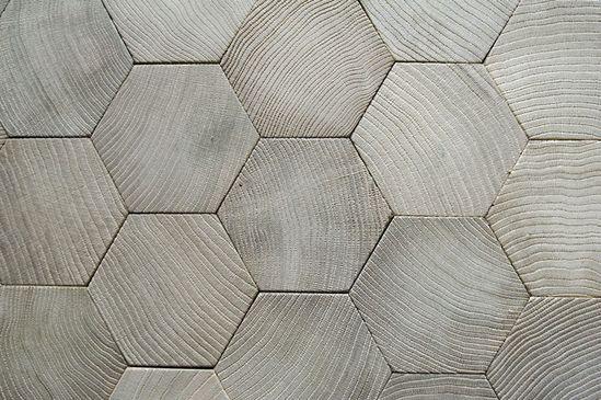 ° hexagon oak parquet floor °