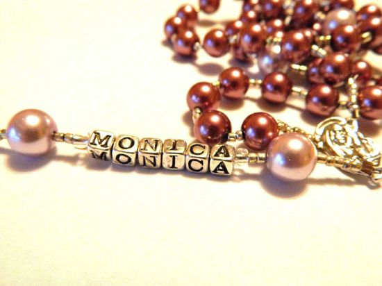 ON SALE for a limited time  Personalized Rosary Great by gr8byz, $22.00