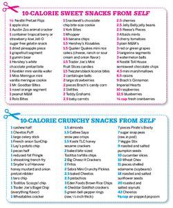 10 calorie snacks!