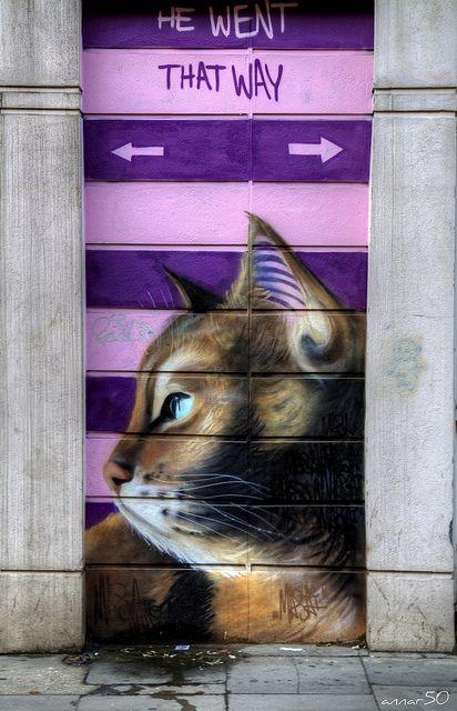 street art by Masai, London