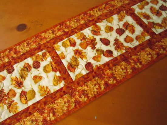 Handmade Quilted Autumn Table Runner