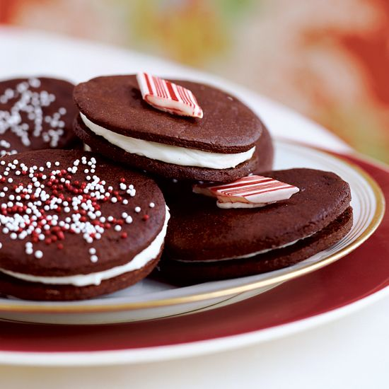 Chocolate-Mint Sandwich Cookies // More Tasty Sandwich Cookies: www.foodandwine.c... #foodandwine