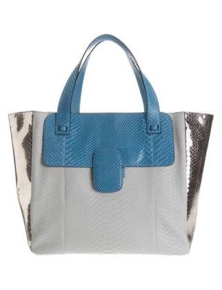 50 Dream Handbags: marc jacobs python khaki tote, $3,795 #handbags, #handbags galore, #purse, #shoulder bag, #evening bag, #designer bags, #valentino bags, #satchel.