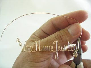 Wire name jewelry