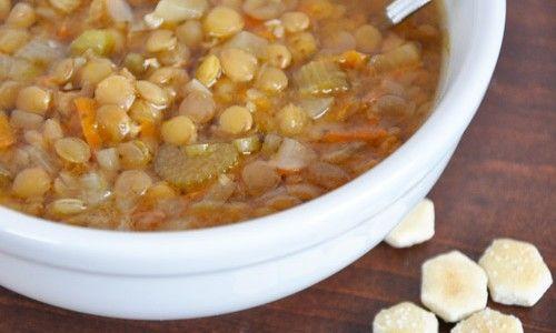 Crock Pot Greek Lentil Soup~Get Crocked~